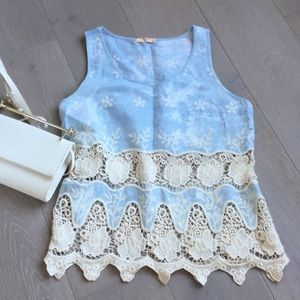 Banana. Tops - Cute top with crochet detail